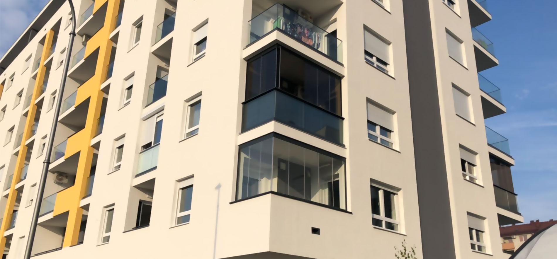 Stakleni balkoni - RMA Banja Luka